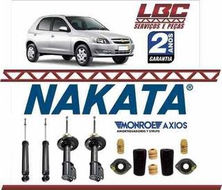 Kit 4 Amortecedor Nakata + Kit Axios Celta 2004 2005 2006