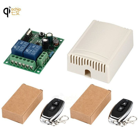 Kit 2 Controle Remoto Interruptor Rele Ac 250v 110v 220v 2ch