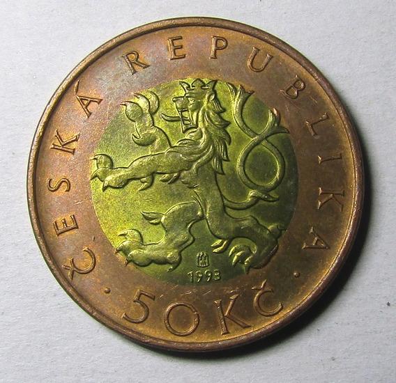 Republica Checa 50 Coronas Año 1993 Au Casi Sin Circular