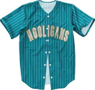 Camisa Jersey Baseball Bruno Mars Hooligans Azul 24k Magic