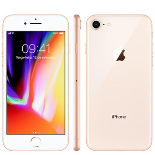 Apple iPhone 8 64gb 4g Tela Retina 4.7 Ios11 Dourado