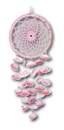 Filtro Dos Sonhos Em Crochê Com Conchas Natural Ref. 1027
