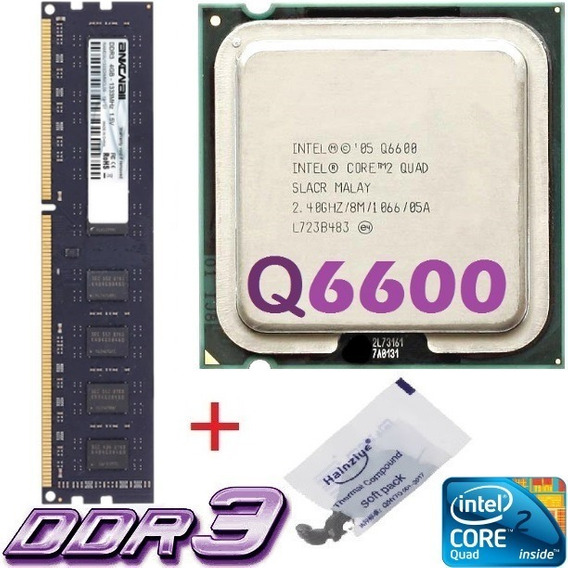 Kit Memória 4 Gb Ddr3 1333 + Core 2 Quad Q6600 2.4ghz