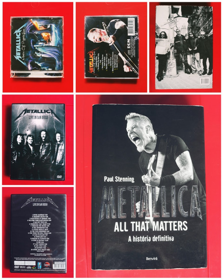 Livro - Metallica / Biografia / Dvd & Cd Original / Lote