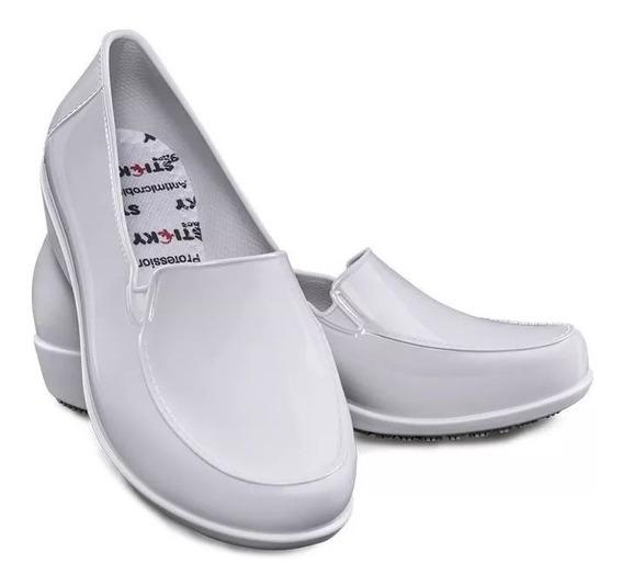 Sapato Cozinha Social Branco Sticky Shoe Ca 41532