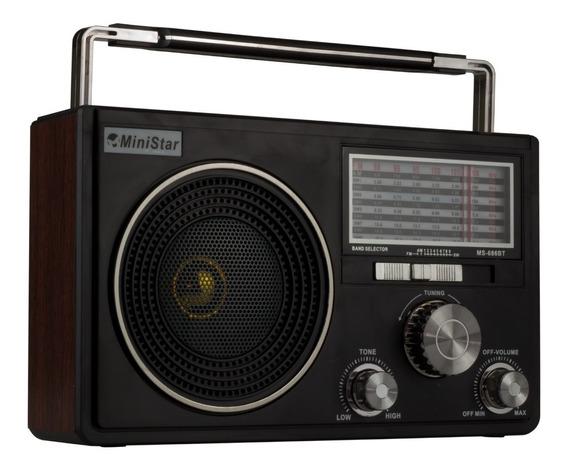 Radio Am Fm 11 Faixas Sw 1-9 Bateria Recarregável Portátil