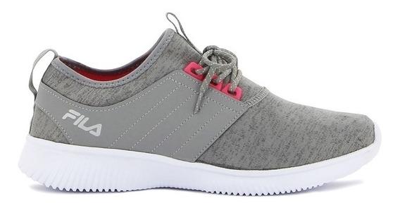 Zapatillas Fila Slide Fitness Gri/fuc De Mujer