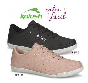 Tenis Feminino Kolosh C1301 Calce Fácil Tcv Com Strass