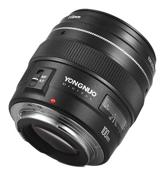 Lente Yongnuo Yn100mm 100mm F2 Para Canon Af/mf Telephoto
