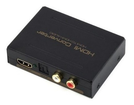 Adaptador Extrator De Audio Hdmi Spdif Optico 5.1ch + 2 Rca
