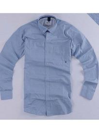 Camisa Maga Longa Azul Clara Txc-gg