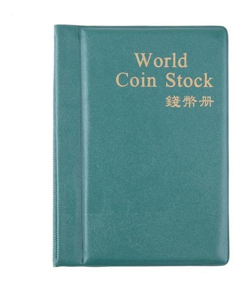 Coin Album Books 120 Pockets Pu World Moeda Album Capa Coleç
