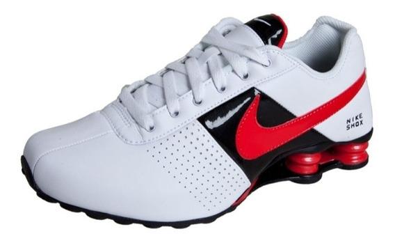 Tênis Nike Shox Deliver Branco Preto Vermelho Original