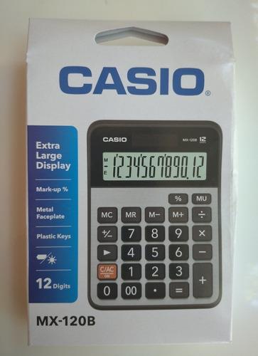 Calculadora De Mesa Casio Mx-120b (12 Digitos)