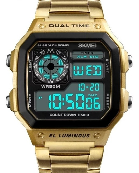 Relógio Dourado Original À Prova D