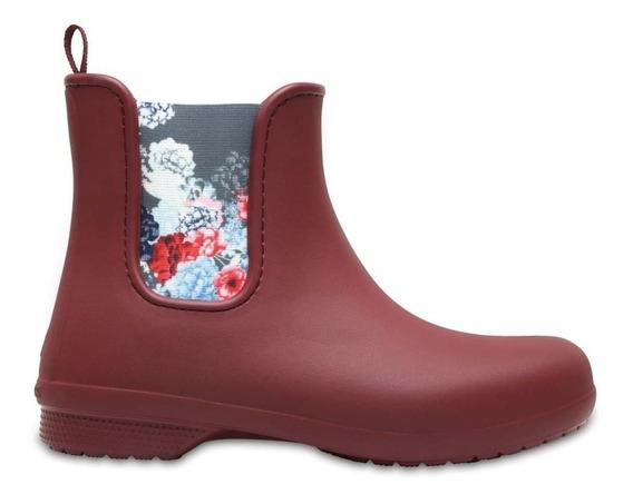Bota De Lluvia Crocs Freesail Chelsea Boot W Garnet C204630