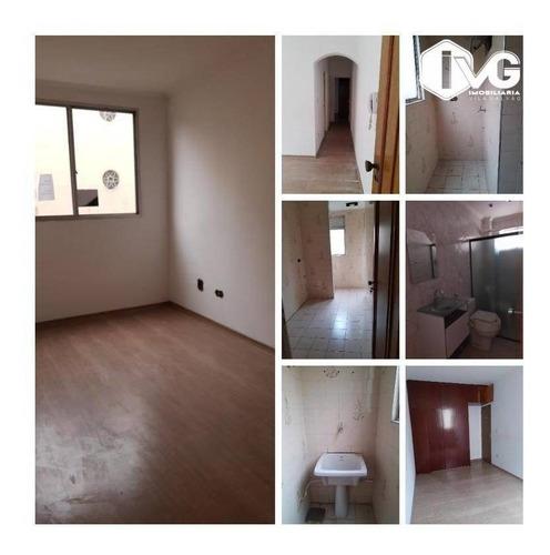 Apartamento Com 1 Dormitório Para Alugar, 48 M² Por R$ 1.000,00/mês - Vila Rosália - Guarulhos/sp - Ap2254