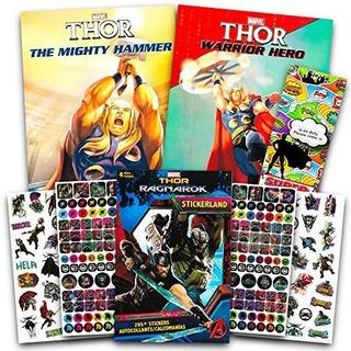 Marvel Vengadores Thor Juego De Libro Para Colorear Con Pega