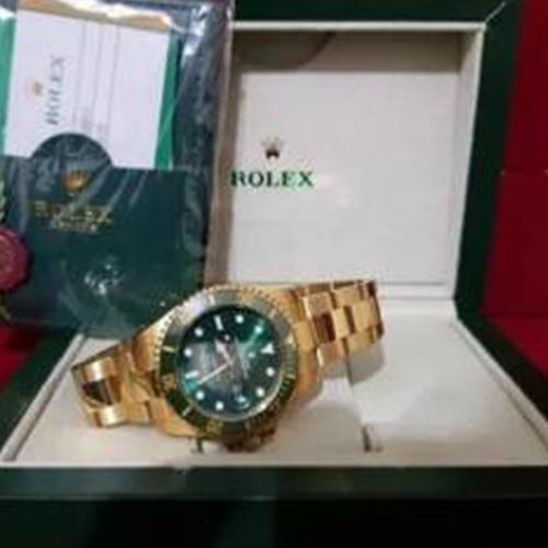 Relógio Masculino Suiço Submariner Dourado