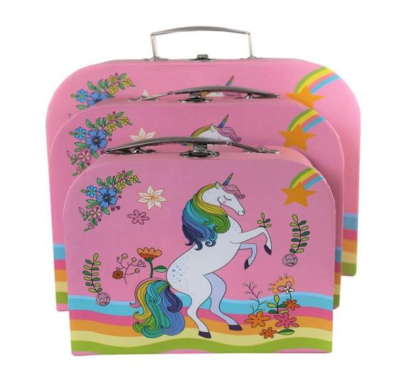 Conjunto De Caixa Decorativa De Unicornio Caixa Organizadora