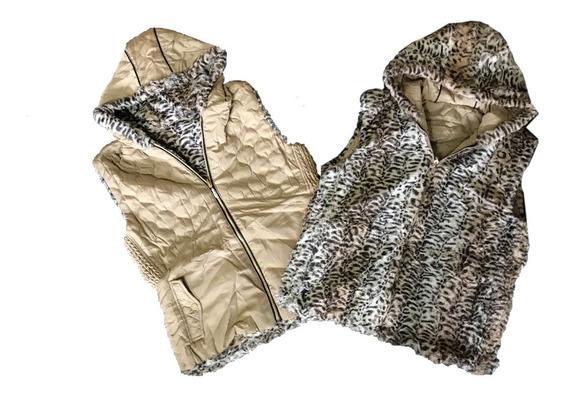 Colete Feminino 2 Em 1 Metalassê Moda Plus Size Estampado