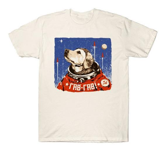 Playera Camiseta Perro Ruso Astronauta Nasa Union Sovietica