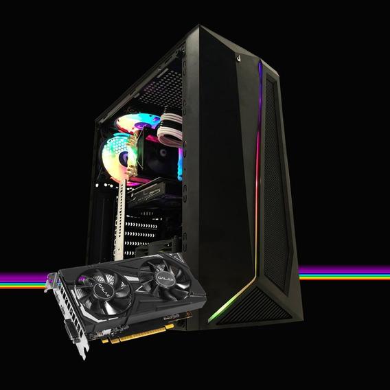 Pc Gamer Megatumi Dark Intel Rgb I3 9100f, 8gb Ssd 480gb Gtx