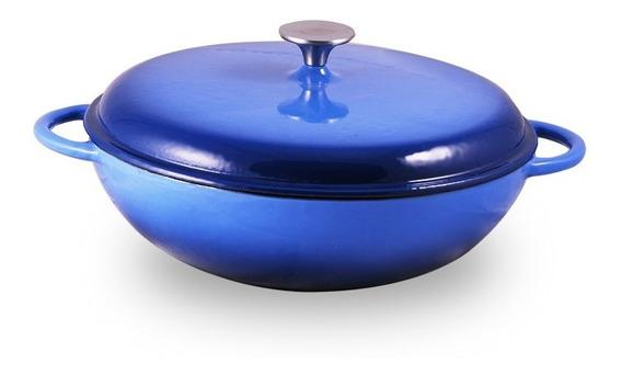 Olla Baja Hierro Fundido Esmaltado 30cm Brann Cookware