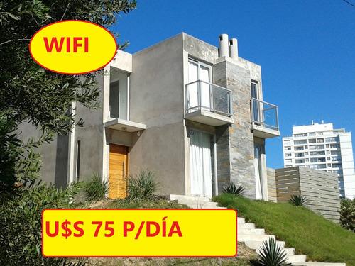 U$s 75 P/día C/wifi A 1 Cuadra Del Mar En Pda. 18 Mansa