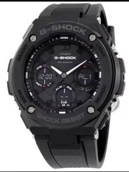 Relógio Casio G-shock Gst-s100-1bcr Solar.
