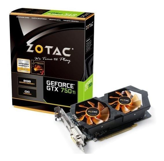 Placa De Video Zotac Geforce Gtx 750 Ti Oc Edition 2gb Gddr5