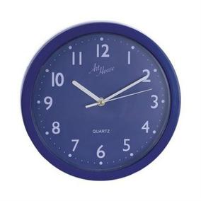 Relógio De Parede Quartz Pop Color Azul 25 Cm