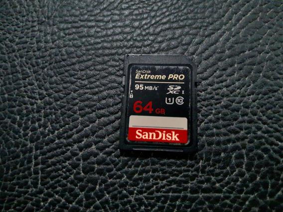 Cartão De Memória Sandisk Extreme Pro 64g