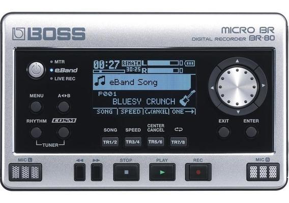 Gravador Digital Portatil Roland Br-80 Para Guitarra E Vocal