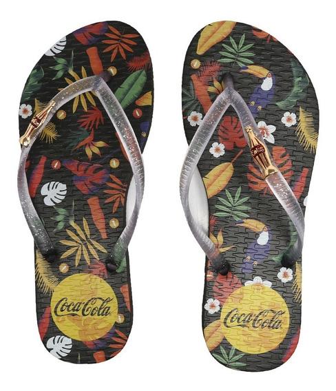 Chinelo Coca Cola Tropicoke Classic Preto/cristal Cc2405