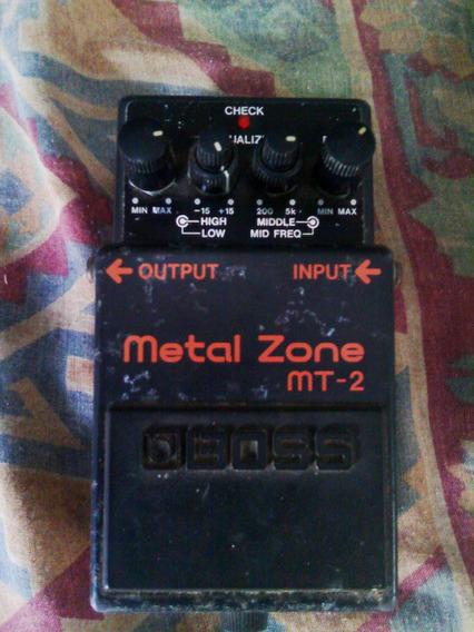 Pedal Metal Zone Boss Mt2 Efecto Sonido Distor - ¡oferta!