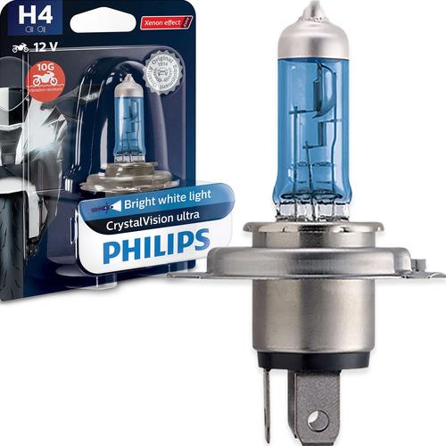 Imagem 1 de 6 de Lampada De Farol Philips Crystal Vision Moto H4 60/55w 12v