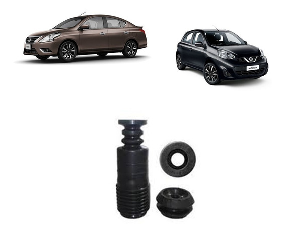 Kit Coxim Batente Coifa Do Amortecedor Nissan Versa March
