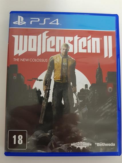 Jogo Wolfenstein Ii The New Colossus Ps4 Usado Mídia Física