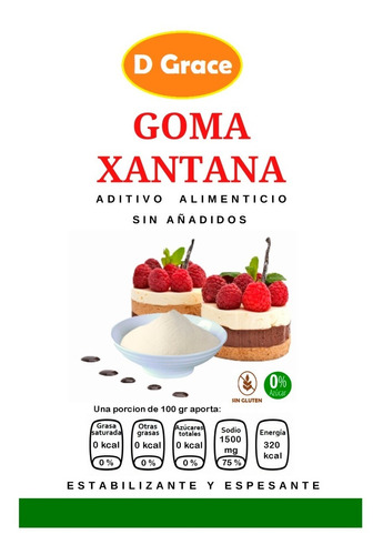 Imagen 1 de 7 de Goma Xantana 1 Kg ( Marca Fufeng)