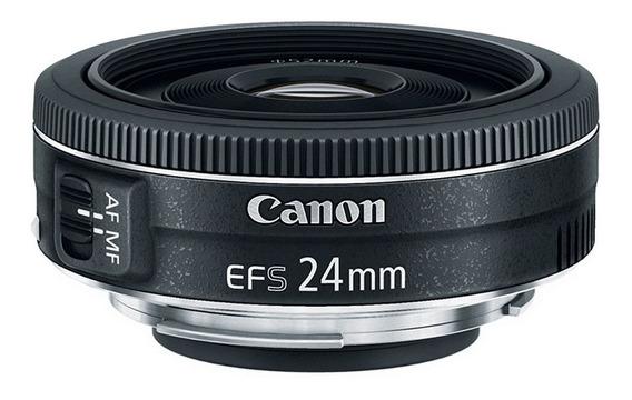 Lente Canon Ef-s 24mm F2.8 Stm (nova)