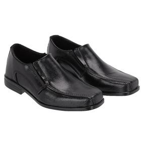 Sapato Social Infantil Bico Quadrado Em Couro Selten