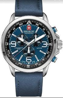 Reloj Swiss Military Cronografo Cuero Zafiro 06.4224.04.003