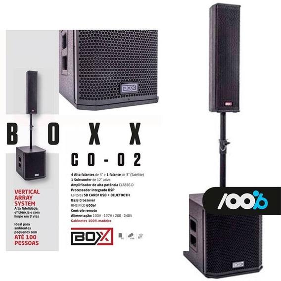 Sistema De Som Box Co-02 Ativo Torre + Sub 12