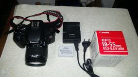 Canon T3i + Lente 18-55mm + Bateria + Carregador