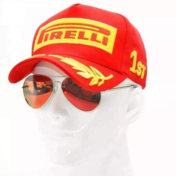 Boné Masculino Esportivo Pirelli Bordado Fórmula 1 Bn12