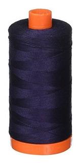 Aurifil Mako Cotton Thread Solid 50wt 1422yds Very Dark Nav