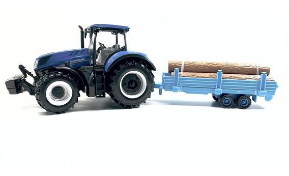 Miniatura Trator New Holland Maquina Agricola 1 32 Burago