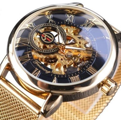 Reloj Automatico Forsining Dorado Oro Elegante Envio Gratis