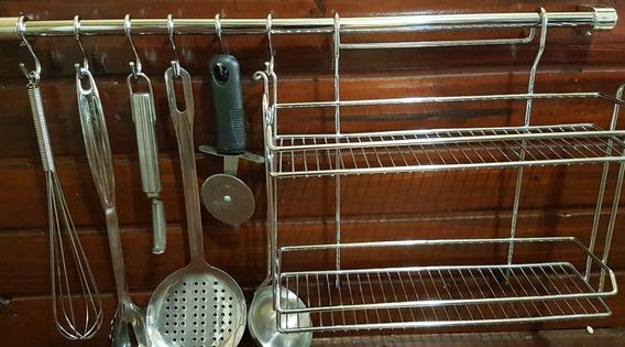 Set 3 Piezas Organizador De Cocina Barral Especiero Ganchos
